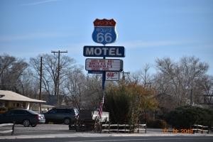 Clasico letrero sobre la Ruta 66, Arizona